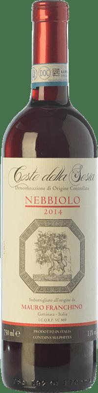 19,95 € Free Shipping | Red wine Mauro Franchino D.O.C. Coste della Sesia Piemonte Italy Nebbiolo Bottle 75 cl