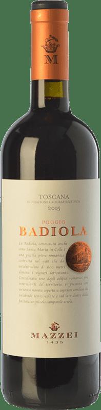 11,95 € Free Shipping | Red wine Mazzei Badiola I.G.T. Toscana Tuscany Italy Merlot, Sangiovese Bottle 75 cl