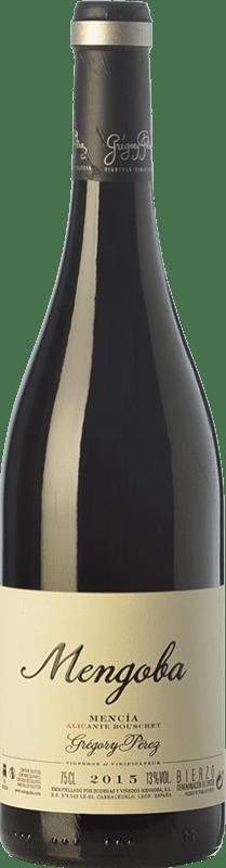 19,95 € 免费送货 | 红酒 Mengoba Mencía Alicante Bouschet Crianza D.O. Bierzo 卡斯蒂利亚莱昂 西班牙 Mencía, Grenache Tintorera 瓶子 75 cl
