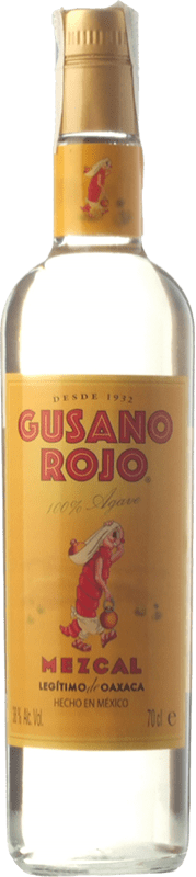 22,95 € Envío gratis | Mezcal Mezcales de Gusano Gusano Rojo Mexico Botella 70 cl