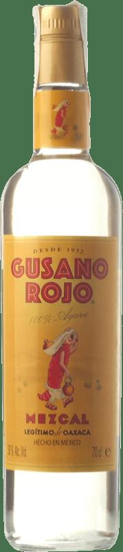 22,95 € 免费送货   梅斯卡尔酒 Mezcales de Gusano Gusano Rojo 墨西哥 瓶子 70 cl