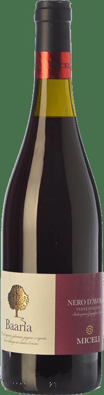 10,95 € Free Shipping | Red wine Miceli Baaria I.G.T. Terre Siciliane Sicily Italy Nero d'Avola Bottle 75 cl