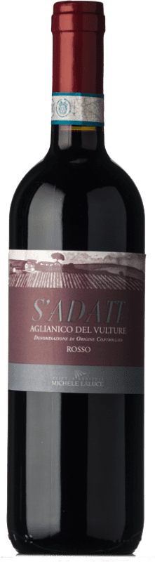 9,95 € | Red wine Michele Laluce S'Adatt D.O.C. Aglianico del Vulture Basilicata Italy Aglianico Bottle 75 cl