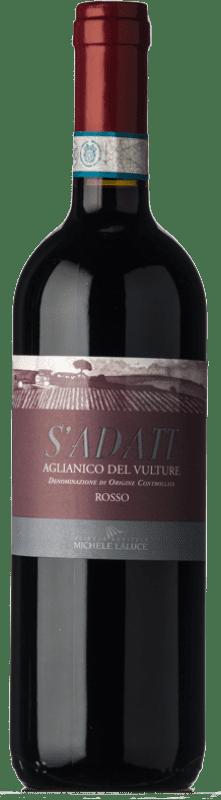 11,95 € | Red wine Michele Laluce S'Adatt D.O.C. Aglianico del Vulture Basilicata Italy Aglianico Bottle 75 cl