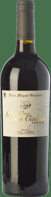 31,95 € 免费送货 | 红酒 Miquel Gelabert Gran Vinya Son Caules Crianza D.O. Pla i Llevant 巴利阿里群岛 西班牙 Merlot, Syrah, Cabernet Sauvignon, Callet, Mantonegro 瓶子 75 cl