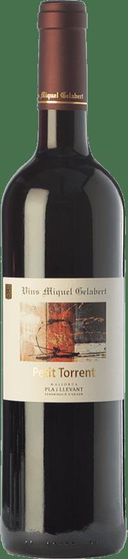 12,95 € 免费送货 | 红酒 Miquel Gelabert Petit Torrent Crianza D.O. Pla i Llevant 巴利阿里群岛 西班牙 Merlot, Cabernet Sauvignon, Callet 瓶子 75 cl