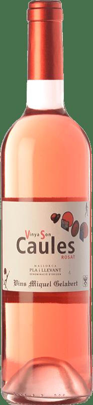 7,95 € Envío gratis | Vino rosado Miquel Gelabert Vinya Son Caules Rosat D.O. Pla i Llevant Islas Baleares España Tempranillo, Syrah, Pinot Negro, Callet, Mantonegro Botella 75 cl