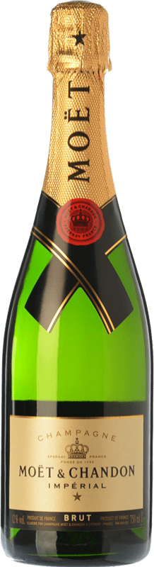 37,95 € | White sparkling Moët & Chandon Impérial Brut Reserva A.O.C. Champagne Champagne France Pinot Black, Chardonnay, Pinot Meunier Bottle 75 cl