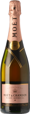 49,95 € Free Shipping | Rosé sparkling Moët & Chandon Rosé Impérial Reserva A.O.C. Champagne Champagne France Pinot Black, Chardonnay, Pinot Meunier Bottle 75 cl