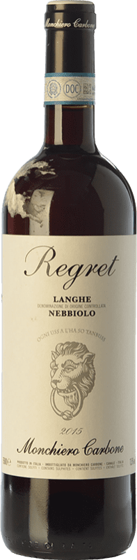 17,95 € Free Shipping | Red wine Monchiero Carbone Regret D.O.C. Langhe Piemonte Italy Nebbiolo Bottle 75 cl