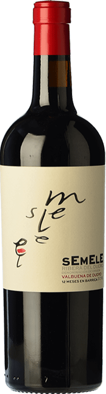 9,95 € | Red wine Montebaco Semele Crianza D.O. Ribera del Duero Castilla y León Spain Tempranillo, Merlot Bottle 75 cl