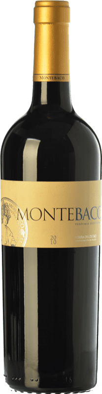 26,95 € | Red wine Montebaco Vendimia Seleccionada Crianza D.O. Ribera del Duero Castilla y León Spain Tempranillo, Merlot Bottle 75 cl