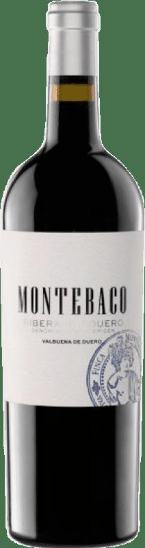 19,95 € Free Shipping | Red wine Montebaco Crianza D.O. Ribera del Duero Castilla y León Spain Tempranillo Bottle 75 cl