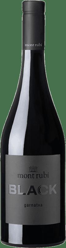 12,95 € Envío gratis | Vino tinto Mont-Rubí Black Joven D.O. Penedès Cataluña España Garnacha Botella 75 cl