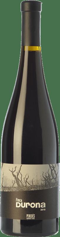17,95 € Envío gratis | Vino tinto Mont-Rubí Finca Durona Crianza D.O. Penedès Cataluña España Merlot, Syrah, Garnacha, Cariñena, Sumoll Botella 75 cl