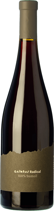 17,95 € Free Shipping | Red wine Mont-Rubí Gaintus Radical Joven D.O. Penedès Catalonia Spain Sumoll Bottle 75 cl