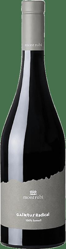 17,95 € Envío gratis | Vino tinto Mont-Rubí Gaintus Radical Joven D.O. Penedès Cataluña España Sumoll Botella 75 cl