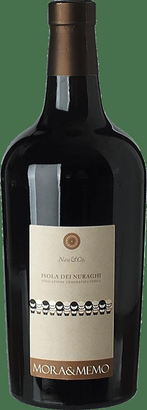 14,95 € | Red wine Mora & Memo Nau & Co I.G.T. Isola dei Nuraghi Sardegna Italy Cabernet Sauvignon, Cannonau Bottle 75 cl