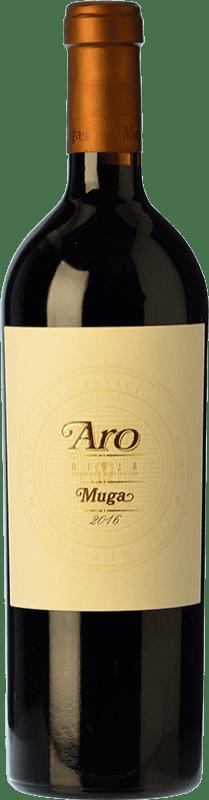 205,95 € Envío gratis | Vino tinto Muga Aro Crianza 2010 D.O.Ca. Rioja La Rioja España Tempranillo, Graciano Botella 75 cl