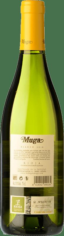 12,95 € Free Shipping | White wine Muga Fermentado en Barrica Crianza D.O.Ca. Rioja The Rioja Spain Viura, Malvasía Bottle 75 cl