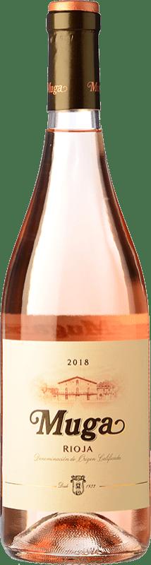 9,95 € 免费送货 | 玫瑰酒 Muga D.O.Ca. Rioja 拉里奥哈 西班牙 Tempranillo, Grenache, Viura 瓶子 75 cl