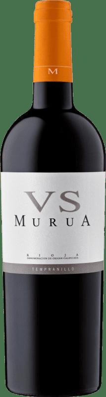 17,95 € Envío gratis | Vino tinto Murua Vendimia Seleccionada Crianza D.O.Ca. Rioja La Rioja España Tempranillo, Graciano, Mazuelo Botella 75 cl