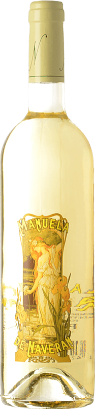 13,95 € Free Shipping | White wine Naveran Manuela Crianza D.O. Penedès Catalonia Spain Chardonnay Bottle 75 cl