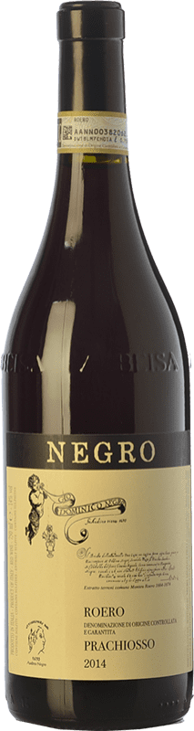 28,95 € Free Shipping | Red wine Negro Angelo Prachiosso D.O.C.G. Roero Piemonte Italy Nebbiolo Bottle 75 cl