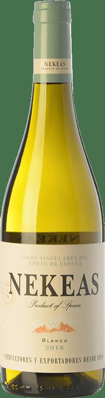 5,95 € 免费送货   白酒 Nekeas Viura-Chardonnay Joven D.O. Navarra 纳瓦拉 西班牙 Viura, Chardonnay 瓶子 75 cl