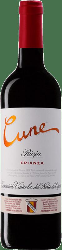 7,95 € Envío gratis | Vino tinto Norte de España - CVNE Cune Crianza D.O.Ca. Rioja La Rioja España Tempranillo, Garnacha, Mazuelo Botella 75 cl