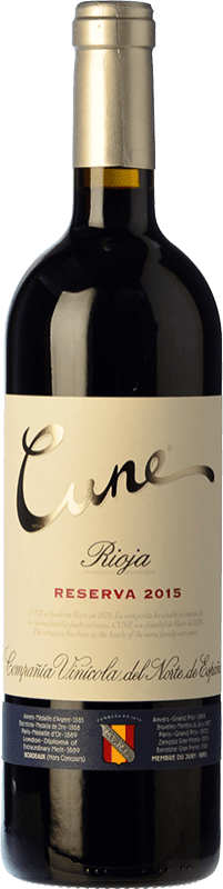 12,95 € | Red wine Norte de España - CVNE Cune Reserva D.O.Ca. Rioja The Rioja Spain Tempranillo, Grenache, Graciano, Mazuelo Bottle 75 cl
