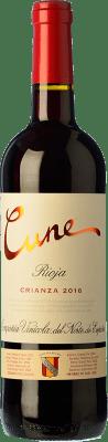 8,95 € Envío gratis | Vino tinto Norte de España - CVNE Cune Crianza D.O.Ca. Rioja La Rioja España Tempranillo, Garnacha, Mazuelo Media Botella 50 cl