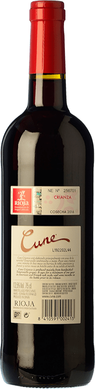 8,95 € Free Shipping   Red wine Norte de España - CVNE Cune Crianza D.O.Ca. Rioja The Rioja Spain Tempranillo, Grenache, Mazuelo Half Bottle 50 cl