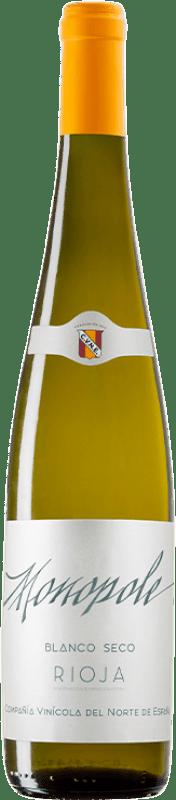 5,95 € Envío gratis | Vino blanco Norte de España - CVNE Monopole D.O.Ca. Rioja La Rioja España Viura Botella 75 cl