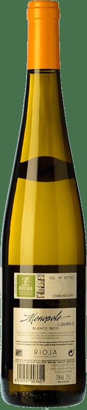5,95 € Free Shipping | White wine Norte de España - CVNE Monopole D.O.Ca. Rioja The Rioja Spain Viura Bottle 75 cl