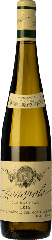 24,95 € Envío gratis | Vino blanco Norte de España - CVNE Monopole Clásico Crianza D.O.Ca. Rioja La Rioja España Viura, Palomino Fino Botella 75 cl