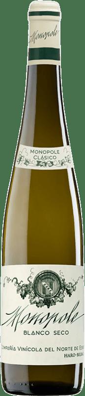 24,95 € | White wine Norte de España - CVNE Monopole Clásico Crianza D.O.Ca. Rioja The Rioja Spain Viura, Palomino Fino Bottle 75 cl