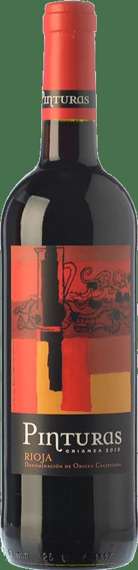 8,95 € 免费送货 | 红酒 Obalo Pinturas Crianza D.O.Ca. Rioja 拉里奥哈 西班牙 Tempranillo 瓶子 75 cl