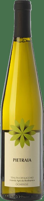16,95 € Free Shipping | White wine Ognissole Bianco Pietraia D.O.C. Castel del Monte Puglia Italy Bombino Bianco, Chardonnay Bottle 75 cl