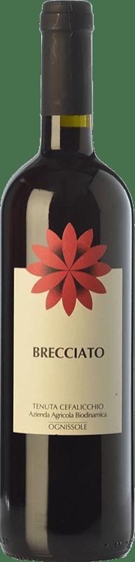 7,95 € Free Shipping | Red wine Ognissole Brecciato I.G.T. Puglia Puglia Italy Nero di Troia Bottle 75 cl