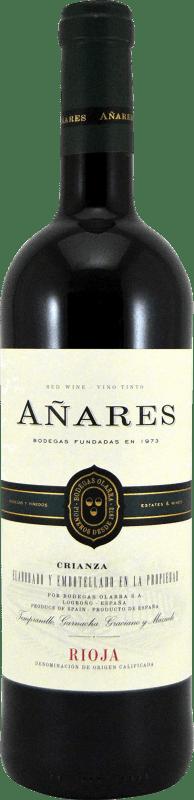 5,95 € Envoi gratuit | Vin rouge Olarra Añares Crianza D.O.Ca. Rioja La Rioja Espagne Tempranillo, Grenache, Graciano, Mazuelo Bouteille 75 cl