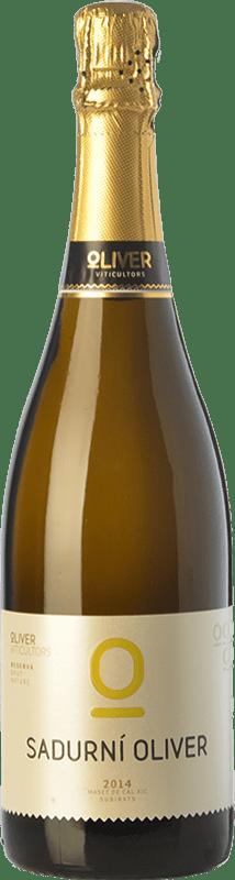 11,95 € Free Shipping | White sparkling Oliver Sadurni Brut Nature D.O. Cava Catalonia Spain Macabeo, Xarel·lo, Chardonnay, Parellada Bottle 75 cl