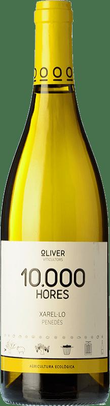 6,95 € Free Shipping | White wine Oliver 10.000 Hores D.O. Penedès Catalonia Spain Xarel·lo Bottle 75 cl
