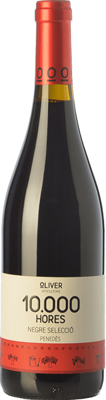 8,95 € | Red wine Oliver 10.000 Hores Negre Joven D.O. Penedès Catalonia Spain Tempranillo, Syrah Bottle 75 cl