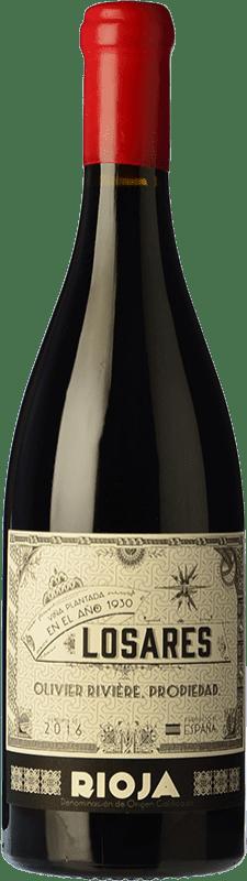 125,95 € 免费送货 | 红酒 Olivier Rivière Losares Crianza D.O.Ca. Rioja 拉里奥哈 西班牙 Tempranillo, Graciano, Mazuelo 瓶子 75 cl