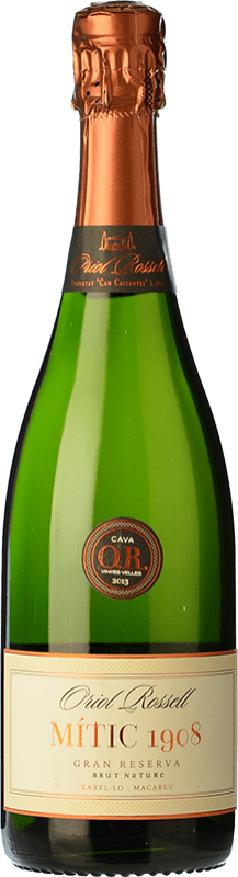 18,95 € | White sparkling Oriol Rossell Brut Nature Gran Reserva D.O. Cava Catalonia Spain Macabeo, Xarel·lo Bottle 75 cl