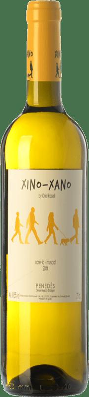 8,95 € Envío gratis | Vino blanco Oriol Rossell Xino-Xano Blanc D.O. Penedès Cataluña España Moscatel, Xarel·lo Botella 75 cl