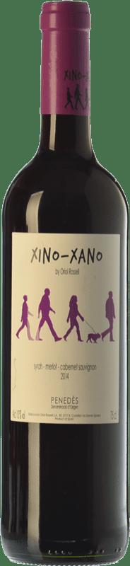 5,95 € Free Shipping | Red wine Oriol Rossell Xino-Xano Negre Joven D.O. Penedès Catalonia Spain Merlot, Syrah, Cabernet Sauvignon Bottle 75 cl