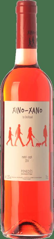8,95 € Free Shipping | Rosé wine Oriol Rossell Xino-Xano Rosat Joven D.O. Penedès Catalonia Spain Merlot, Syrah Bottle 75 cl