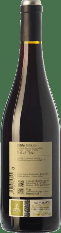 8,95 € Free Shipping | Red wine Ostatu Cosecha Joven D.O.Ca. Rioja The Rioja Spain Tempranillo, Graciano Bottle 75 cl